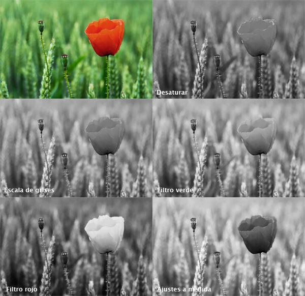 Blanco y negro digital - filtraje