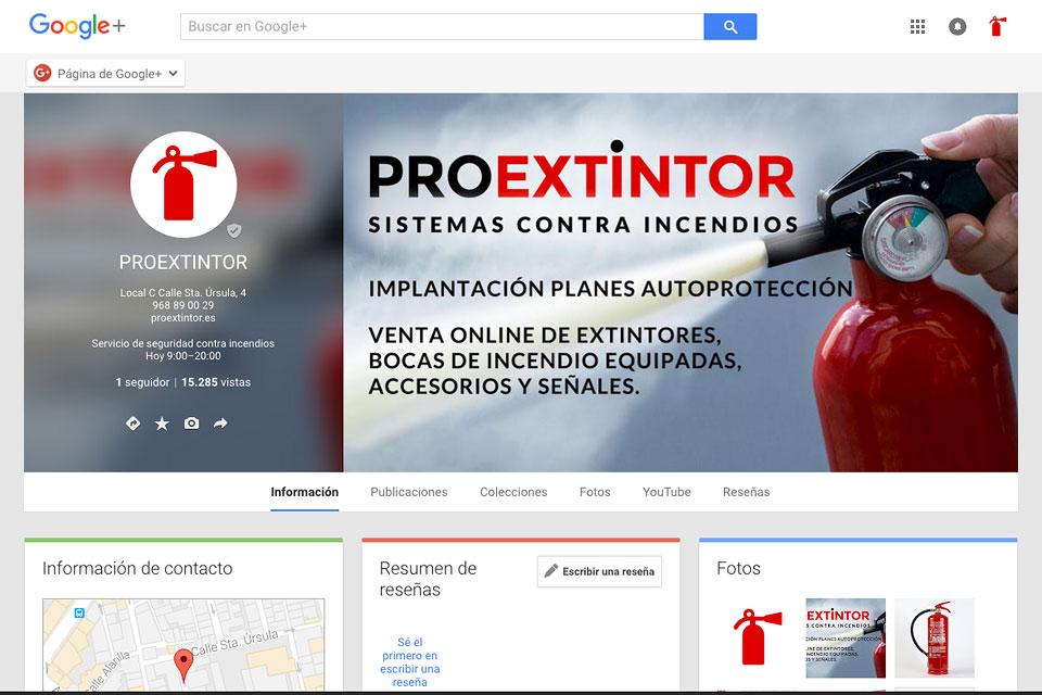 Ficha de negocio en Google