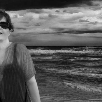 retrato en la playa